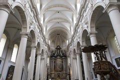 Inre av helgonet Walburga Church, Bruges, Belgique, Arkivbild