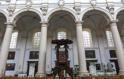 Inre av helgonet Walburga Church, Bruges, Belgique, Fotografering för Bildbyråer