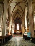 Inre av helgonet Wenceslas Cathedral, Olomouc, Tjeckien arkivbild