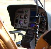 Inre av helikoptern Arkivfoton
