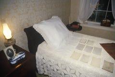 Inre av hemmet av Emily Dickinson, Amherst, MOR Arkivfoton