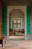 Inre av hemmet för traditionell kines Royaltyfria Bilder