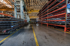 Inre av industrianläggningseminariet Arkivfoton