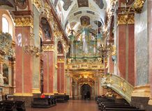 Inre av Jasna Gora Pauline Order Monastery och fristaden i Czestochowa, Polen Royaltyfri Foto