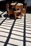 Inre av kafét i Sucre Fotografering för Bildbyråer