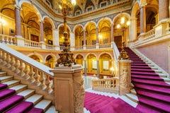 Inre av klassisk byggnad royaltyfri foto