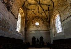 Inre av kloster av Kristus i Tomar, Portugal Fotografering för Bildbyråer