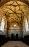 Inre av kloster av Kristus i Tomar, Portugal Arkivbild