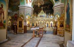 Inre av Kristi födelsekyrkan Kyrkan grundades i 1833 Arkivbilder