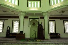 Inre av Kuala Lumpur Jamek Mosque i Malaysia Fotografering för Bildbyråer