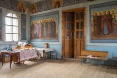 Inre av kyrkan av ärkeängeln Michael Byn av stora Ignatovo, republik av Mordovia Fotografering för Bildbyråer