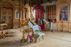 Inre av kyrkan av ärkeängeln Michael Byn av stora Ignatovo, republik av Mordovia Royaltyfri Fotografi