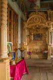 Inre av kyrkan av ärkeängeln Michael Byn av stora Ignatovo, republik av Mordovia Royaltyfria Bilder