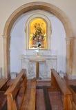 Inre av kyrkan av Madre di Sant'Elia Royaltyfri Fotografi