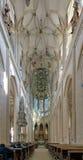 Inre av kyrkan för St. Barbaras i Kutna Hora Royaltyfria Foton