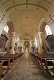 Inre av kyrkan Maria Radna som invigas i heder av den välsignade jungfruliga Maryen Royaltyfri Fotografi