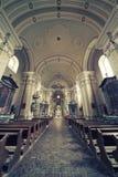 Inre av kyrkan Maria Radna som invigas i heder av den välsignade jungfruliga Maryen Royaltyfria Bilder