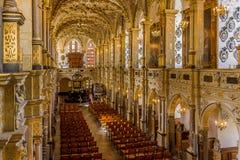 Inre av kyrkan på den Rosenborg slotten, Danmark Arkivfoton