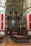 Inre av kyrkan av San Filippo Neri i Turin royaltyfria bilder