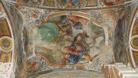 Inre av kyrkan av St Mary, Palermo, Sicilien, Italien Ken brännskadaeffekt stock video