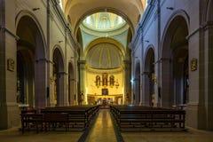 Inre av kyrkan av Vilabella, Catalonia, Spanien royaltyfri foto