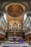 Inre av kyrkliga San Marco Facade i Florence, Italien Royaltyfria Foton