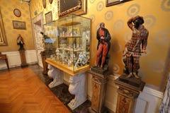 Inre av La Scalamuseet, Milan, Italien fotografering för bildbyråer