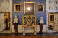 Inre av La Scalamuseet, Milan, Italien royaltyfri fotografi