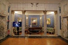 Inre av La Scalamuseet, Milan, Italien royaltyfria foton