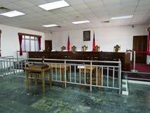 Inre av lagdomstolen i Jing-Mei Human Rights Memorial och kult arkivfoto
