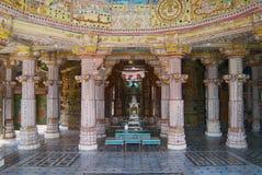 Inre av Laxmi Nath Temple i Bikaner, Indien royaltyfri bild