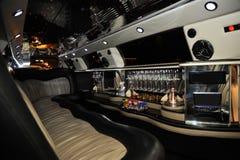 Inre av limousinebilen Royaltyfri Bild