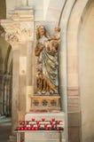 Inre av Magdeburgs domkyrka, Magdeburg, Tyskland royaltyfria bilder