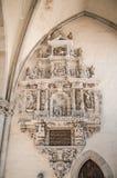 Inre av Magdeburgs domkyrka, Magdeburg, Tyskland arkivbild