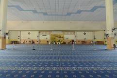 Inre av Masjid Universiti Putra Malaysia på Serdang, Selangor, Malaysia Royaltyfri Foto