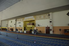 Inre av Masjid Universiti Putra Malaysia på Serdang, Selangor, Malaysia Royaltyfri Fotografi