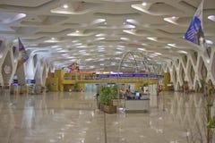 Inre av Menara den internationella flygplatsen Royaltyfri Foto