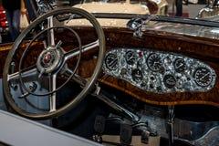 Inre av Mercedes-Benz 770K W150, 1931 Arkivfoton