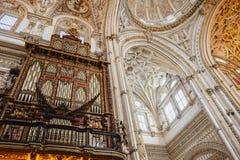 Inre av Mezquita, CÃ-³rdoba Andalusia Spanien royaltyfri fotografi