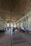 Inre av Mont Saint Michel Abbey, Frankrike Royaltyfri Bild
