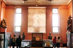 Inre av museet av egyptiska forntider (egyptiskt museum), Kairo, Egypten, Nordafrika, Afrika Arkivbild