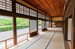 Inre av Ninomaru Goten av den Kakegawa slotten, Japan Royaltyfri Foto