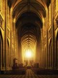 Inre av Orleans den gotiska domkyrkan Fotografering för Bildbyråer
