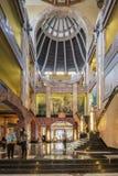 Inre av Palacioen de Bellas Artes som planerades av Federico Mariscal med den Art Deco stilen Royaltyfri Bild