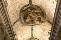 Inre av Palazzo Barberini, Rome, Italien Arkivbild