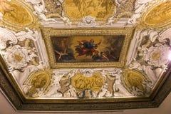Inre av Palazzo Barberini, Rome, Italien Royaltyfria Foton