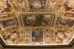 Inre av Palazzo Barberini, Rome, Italien Arkivfoto