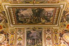 Inre av Palazzo Barberini, Rome, Italien Royaltyfria Bilder