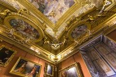 Inre av Palazzo Pitti, Florence, Italien Royaltyfria Bilder