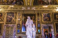 Inre av Palazzo Pitti, Florence, Italien Arkivbild